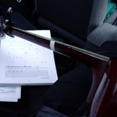 guitar in car